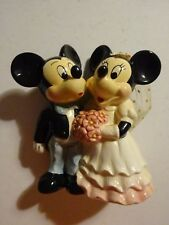 Disney Mickey & Minnie Mouse Wedding Cake Topper Ceramic Figure Cute Love