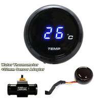 Blue LED Thermometer Water Temp 22mm Sensor Adapter 0~120 Degree For Motorcycle