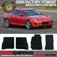 CFMBX1MA7227 Coverking Custom Fit Front and Rear Floor Mats for Select Mazda RX-8 Models Nylon Carpet Black