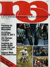 mo 4/79 1979 Batavus Bingo Zündapp GS 125 Maico 250 MC KTM Comet Honda CBX moto