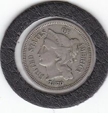 Sharp  1870    3  Cent  /  Nickel    Coin