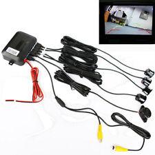 Car Reverse Video Parking Radar 4Sensor Rear View Backup Alert Security System