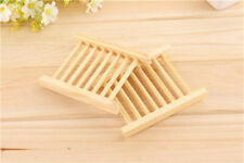 Wooden Bamboo Soap Holder Dish Bathroom Shower Plate Stand Wooden Box