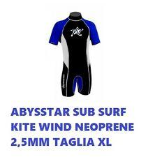 MUTA ESTIVA SURF ABYSSTAR SUB SURF KITE WIND NEOPRENE 2,5MM TAGLIA XL