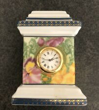 Original Versace Medusa miniature clock by Rosenthal. Untested