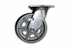 """6"""" x 2"""" Swivel Steel Caster 1250# Capacity w/ Semi Steel Albion Wheel Heavy Duty"""