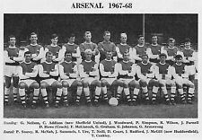 ARSENAL FOOTBALL TEAM PHOTO>1967-68 SEASON