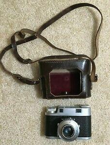VTG ILOCA II Camera w/Leather Case - Prontor S Shutter to 300th Sec, Jlitar Lens