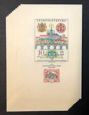 Czechoslovakia #1554 10 Sheets of 1 1968 MNH