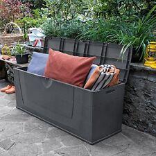 Cassapanca baule giardino in resina per esterno 200 lt chiudibile con lucchetto