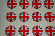 "12 UNION JACK LAWN BOWLS STICKERS  1""  CROWN GREEN BOWLS FLATGREEN INDOOR BOWLS"