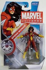 """SPIDER-WOMAN Marvel Universe 4"""" inch Action Figure #6 Series 3 Hasbro 2010"""