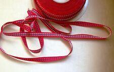 MERCERIE SANGLE LACETTE ruban galon rouge 1.5mx1cm@rubbon