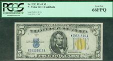 $5.00 Silver Certificate – NORTH AFRICA, 1934A, Fr. #2307, PCGS Grade 66PPQ UNC
