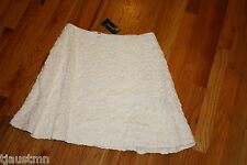 NWT Womens MAX EDITION LINED WHITE SKIRT STRETCH Size MEDIUM NEW