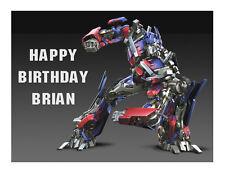 Transformers Optimus Prime edible cake image sheet party decoration topper