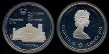 CANADA 10 Dollars 1973 Montreal Olympic 1976  Montreal skyline AG PROOF