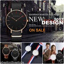 Luxury HANNAH MARTIN Wrist watches Japan Quartz-mvmt Fashion Casual Mens Ladies