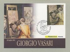 GIORGIO VASARI CARTOLINA FILATELICA 2011 - MAXI CARD