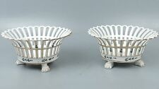 Rare Matched Pair of Tucker & Hemphill Porcelain Reticulated Fruit Baskets - PC