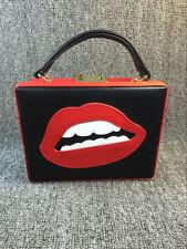 personality handmade women red lip funny evening party wedding handbag