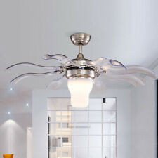 Modern Style Ceiling Fan with LED Light and Remote Control 3 Color Temperature