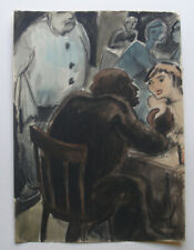 Georg Hansen (1908 ) The conversation. Bar interior. Dated 1938. Fine Art Deco
