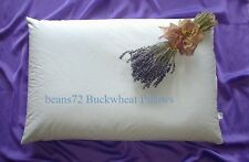 "beans72 Aromatherapy Buckwheat Pillow - King Size 20""x36"" *Made in Usa"
