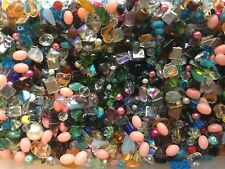 1 Pound Mixed Shape & Size Glass Crystal Beads 2mm-18mm AWESOME DEAL Cheap