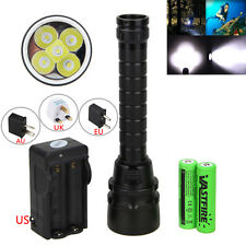 Powerful Diving 15000LM 5x XML T6 LED Scuba Waterproof Flashlight Light  3x18650