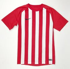 New Nike Striped Segment Soccer Jersey Red White Men's M Futbol Shirt 832976