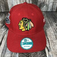 Chicago Blackhawks New Era NHL 9Forty Strapback Stanley Cup Champs 2015 Cap Hat