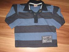 Shirt Langarm Poloshirt Longsleeve gestreift Gr. 68 blau v. Sanetta 2-144