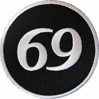 69 Patch Iron Sew On Cloth Jacket Biker Motorcycle Motorbike Sex Position Badge