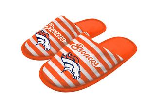 NFL Denver Broncos Scuff Slippers Women's Large