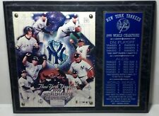 1999 NY Yankees World Series champions plaque marbelized look wood