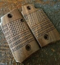 Walnut Wood Grips with American Flag - Will fit Sig Sauer P238