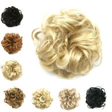 Lady Girls Synthetic Hair Scrunchie Wrap Wave Curly Hair Bun Piece Ponytail