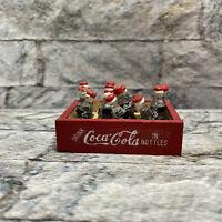 Vintage Coca Cola Miniature 12-Bottle Wood Carton Crate