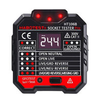 RCD Leakage Switch Detector Socket Tester with LCD Screen Black Free Shipping US
