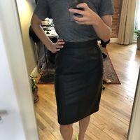 1980/'s Forenza black leather skirtsize 4