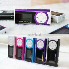 Mini USB Digital MP3 Player LCD Screen Clip With LED Light Micro SD TF Card Slot