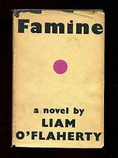 FAMINE - Liam O'Flaherty UK true 1st edition 1937 hardcover with dust jacket