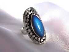 Horse Eye MOOD RING - Antique Silver Shade - adjustable to fit ring sizes 7-11