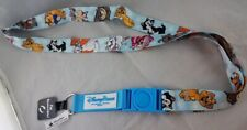 Disney Parks Dogs Cats Characters Pluto Figaro Si Am +++ Reversible Lanyard NEW
