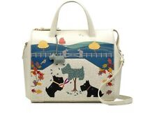 """SALE! RADLEY RRP £240 """"DOG OF THE MANOR"""" Zip-Top Grab Bag & Coin Purse in Ivory"""