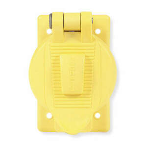 HUBBELL WIRING DEVICE-KELLEMS HBL74CM23WO Weatherproof Cover,Vertical,Yellow
