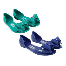 NIB Salvatore Ferragamo Preita Lace-Bow Jelly Flat Sandals - Italy Shoes $275