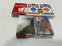 5 Decks Bicycle Rider & Other Cards Poker Standard Playing Cards Red & Blue