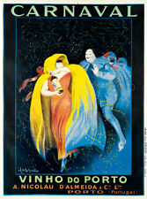 Carnaval Vinho Do Porto Cappiello Wine Advertising Giclee Canvas Print 20x27